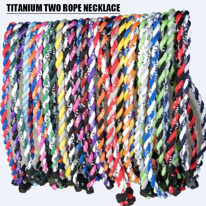 Neue Titan geflochten 3 Seilen Tornado Halsketten für Sport Fußball Baseball Softball Mädchen Mutter CNY84