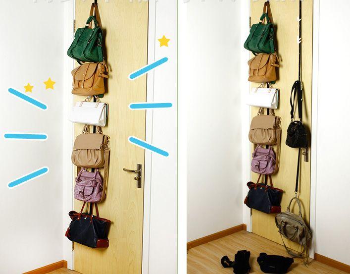 Adjustable Storage Holders And Racks For Bag Clothing After Door Hanging Purse Hook Rack Rope Lanyard Box Pack HH7-1025