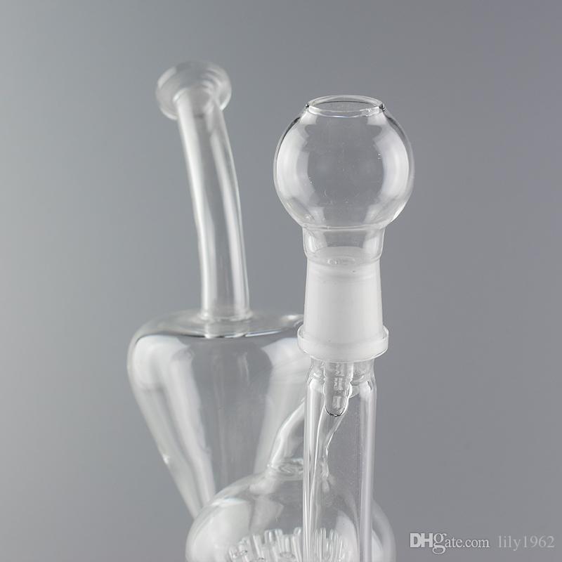 Pipe à eau en verre JM Flow Glass en verre recycleur avec Percolat Perc Recycler ou 8 pouces de hauteur