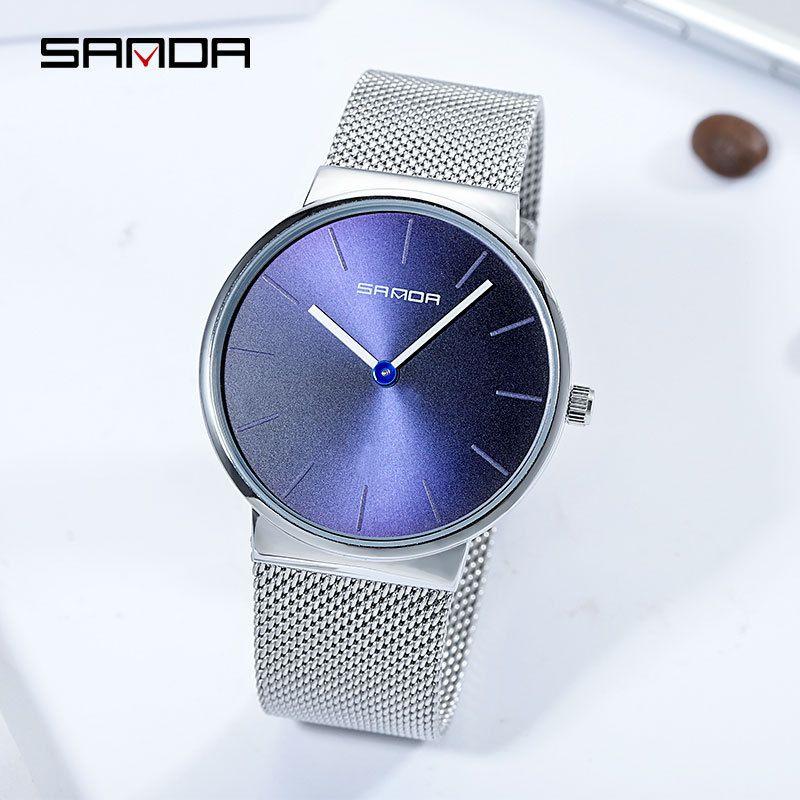 9cc8352a38c Compre Novo Cinto De Aço De Milão Relógio Feminino Simples Relógios De  Quartzo Relógio De Moda Das Mulheres Top Marca De Luxo Senhoras Relógio De  Mesa À ...