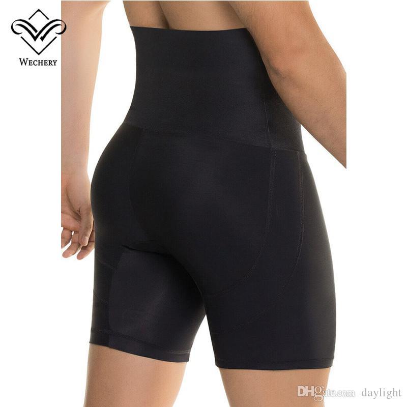9345b65ca3ef8 2019 Wechery Control Pantise Butt Lifter Hip Up Pants For Men Black High  Waist Slimming Underwear Man Slim Tummy Belly Body Shpaer From Daylight, ...