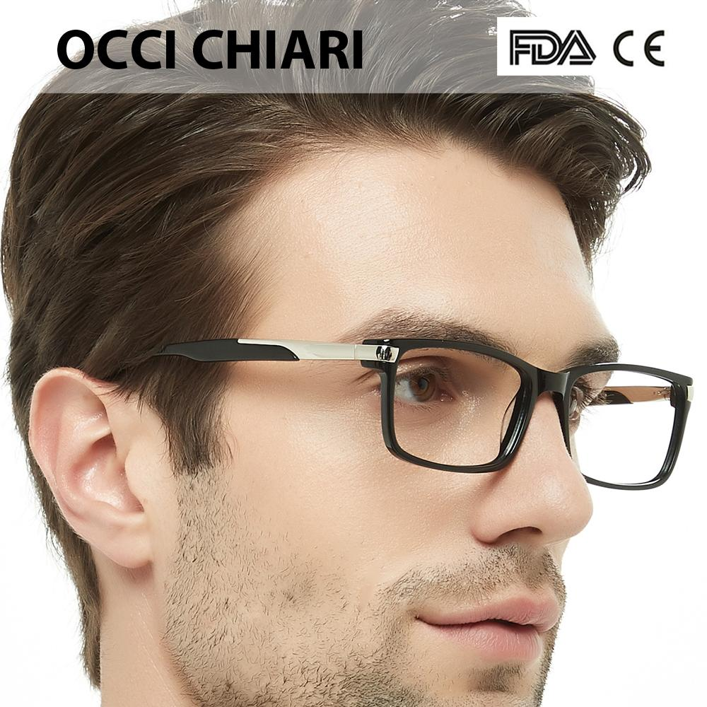 7a0cba375e2 2019 OCCI CHIARI Eyewear Frames Optical Eyeglasses Eyewear Gafas Rectangle  Men Black Prescription Glasses Frames Clear Lens W CAPATI From Shuidianba