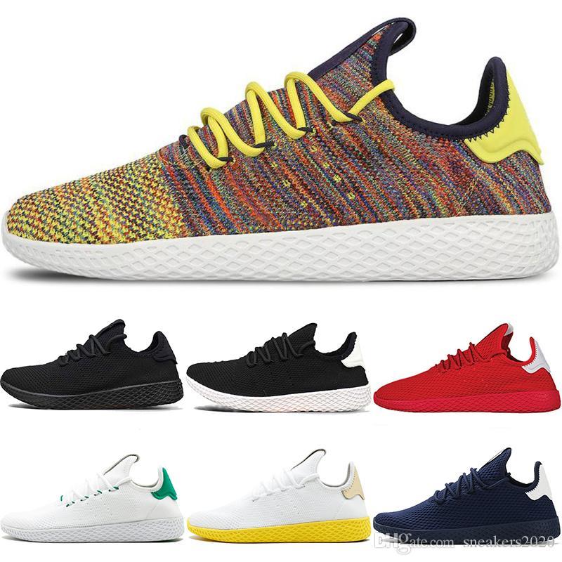 promo code 98dd1 d1045 Stan Smith Tennis HU Men Women Running Shoes Pharrell Williams OG Multi  Color Black White Oreo Blue Red Runner Sports Sneakers Size 5-11