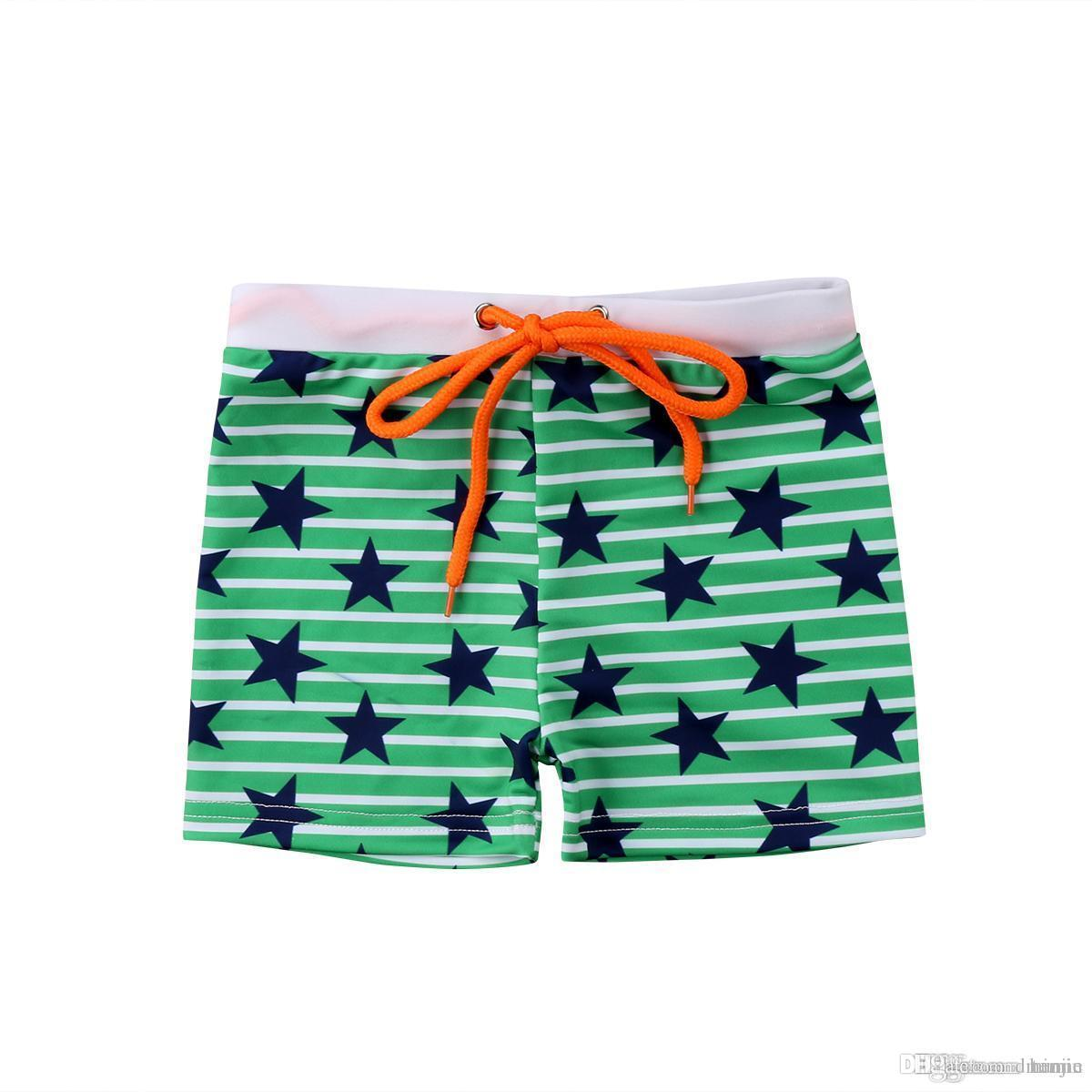 a12d48ab1e Boys Swimming Trunks Swim Shorts Skull Shark Stars Stripe Printed Summer Swimsuit  Beachwear Kids Summer Trunks 6M-6Y Men's Trunks Cheap Men's Trunks Boys ...