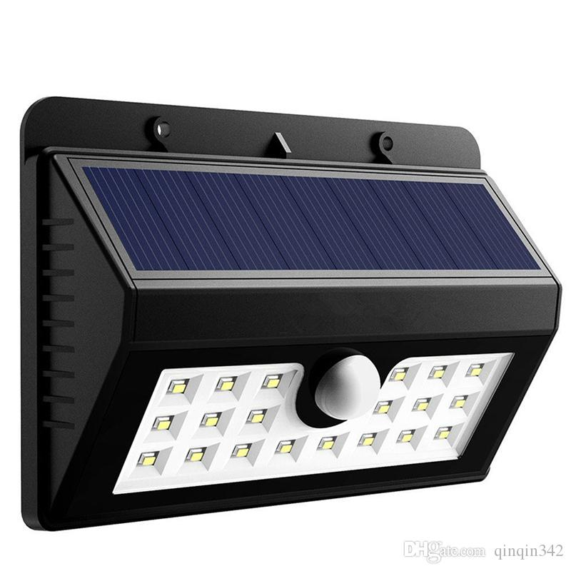 led solar light outdoor Waterproof 20LED 200LM Solar Power PIR Sensor Villa Fence Lamp Outdoor Garden Shed Lighting Super Bright