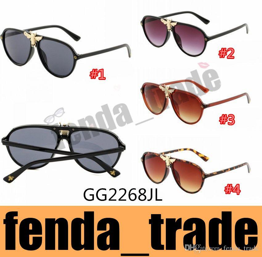 2e211b2415 Luxury 2268 Sunglasses Men Women Brand Designer Popular Fashion Big Summer  Style With The Bees AAA+ Quality UV Protection Lens Online with  7.71 Piece  on ...