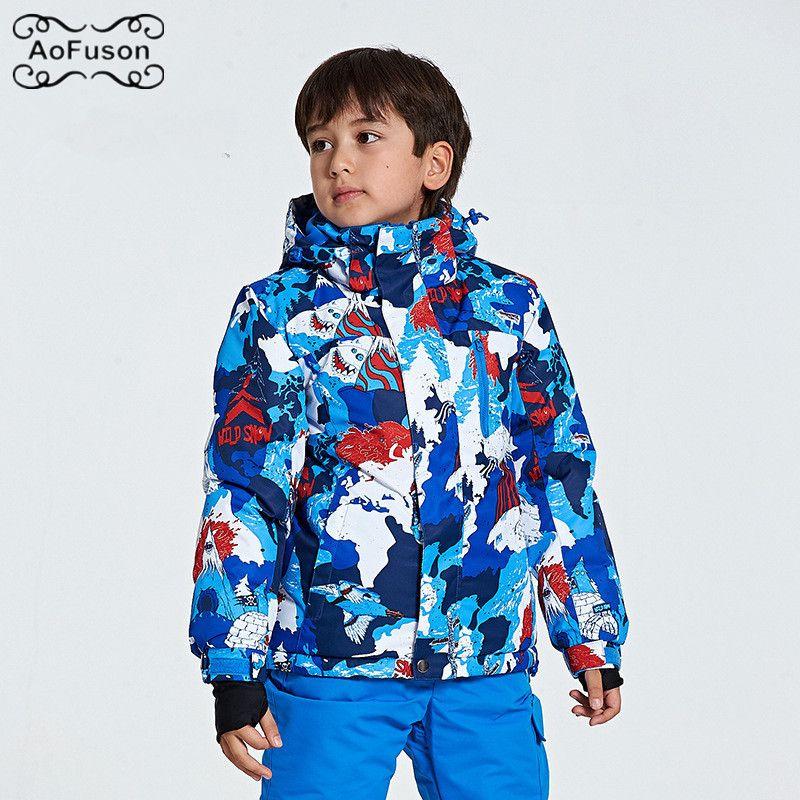 2b0919aa3 Snowboard Ski Jacket For Kids Warm Breathable Waterproof Winter Snow ...