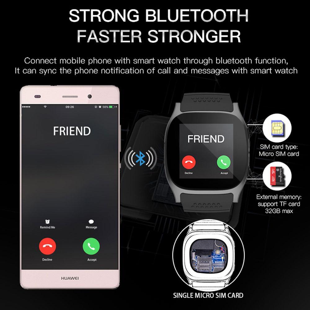 9b6f9adac27 Compre Coxang T8 Smart Watch Para Homens Crianças Smartwatch 2g Sim Card  Câmera De Pulso Telefone Celular Para Huawei Sumsung Android Ios Pk  Dz09gt08 De ...