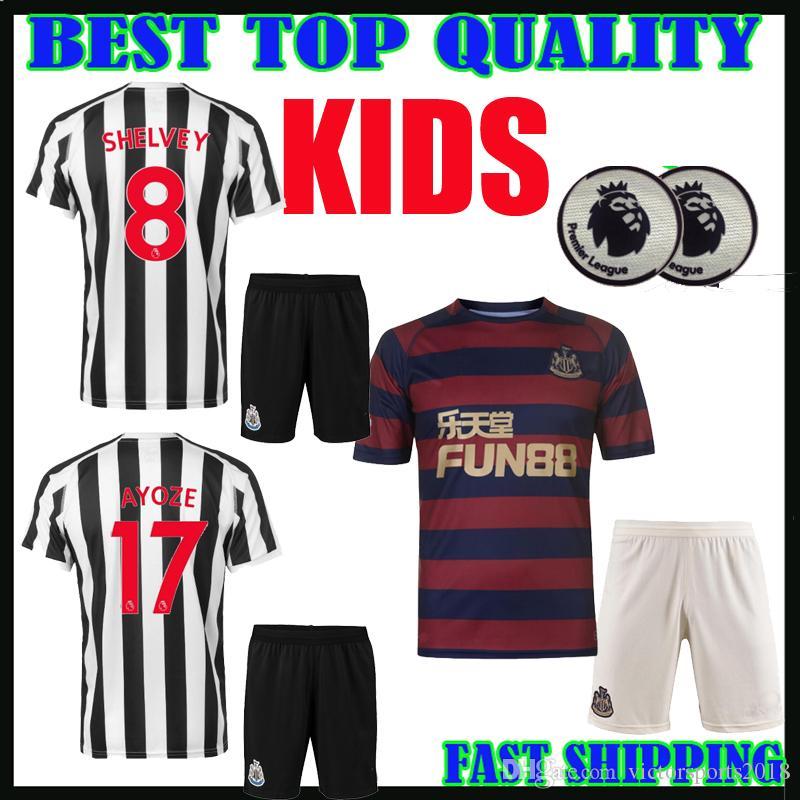 cheap for discount 8d711 d9dac kids kit 18 19 Newcastle United soccer jerseys 2018 2019 home away third  RONDON ATSU SHELVEY DIAME AYOZE SCHAR MUTO boys football shirts