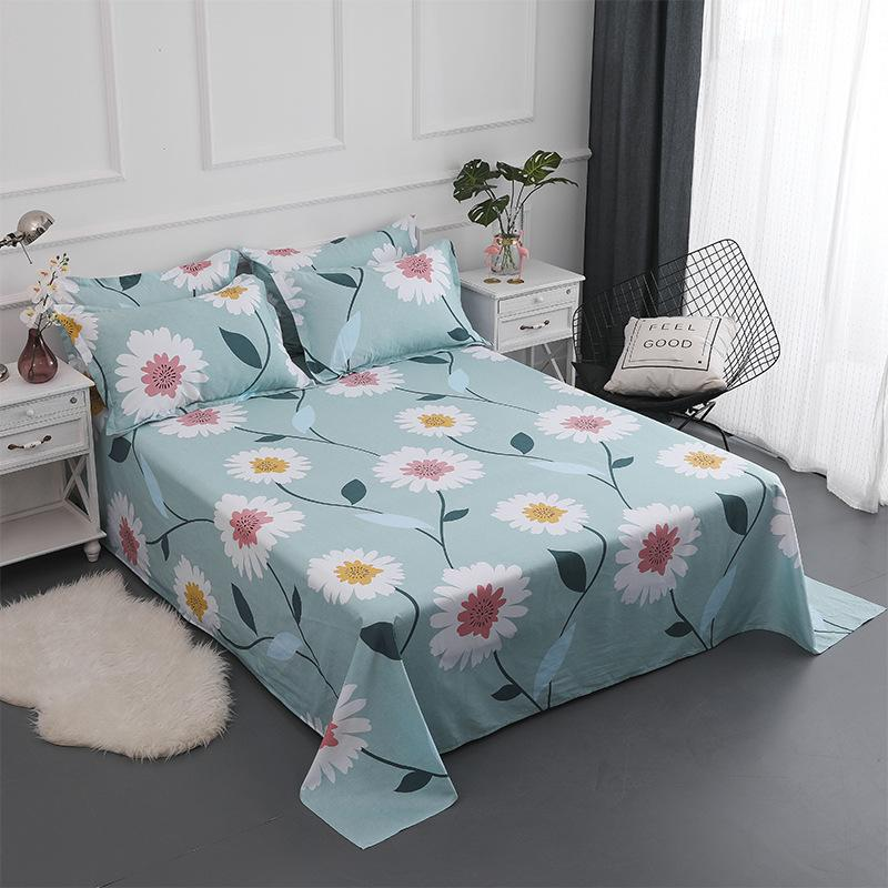 2019 Bedding Flat Sheet Bed Linens Single Double Cotton Bedsheets