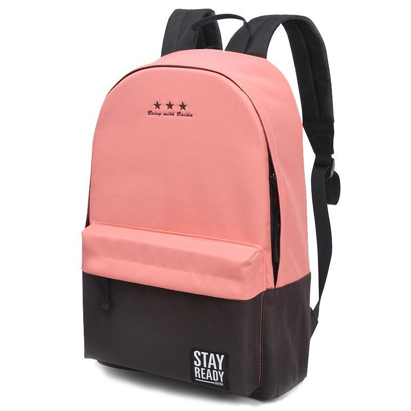 e4cb1daf5bc1 Fashion School Backpacks Women Children Schoolbag Back Pack Leisure Korean  Ladies Knapsack Laptop Travel Bags Teenage Girls Rucksack Leather Backpacks  One ...