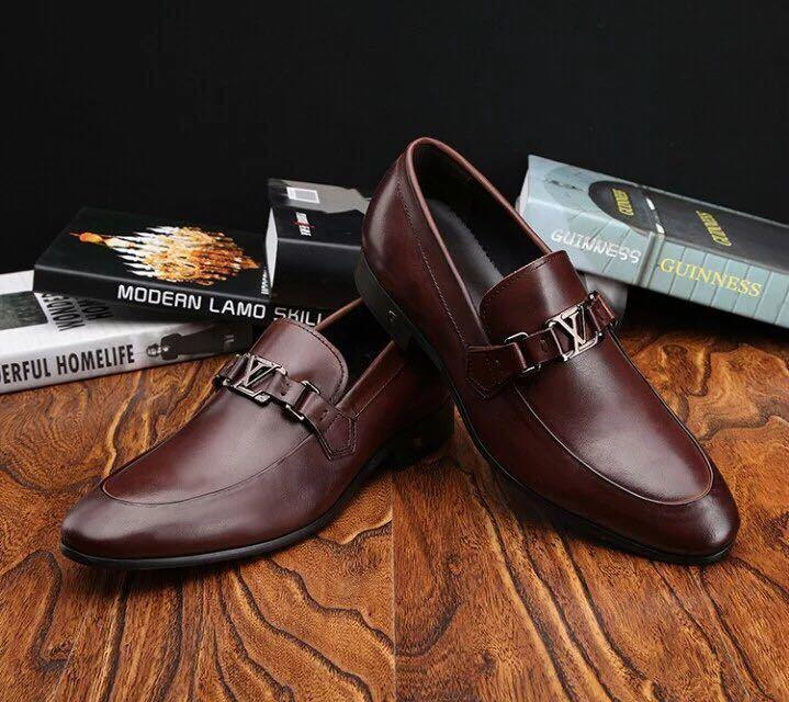 ada8e39cc57446 Brown Business Shoes Guan Men Dress Shoes BOOTS LOAFERS DRIVERS BUCKLES  SNEAKERS SANDALS Walking Shoes Flat Shoes From Xuedw5555556