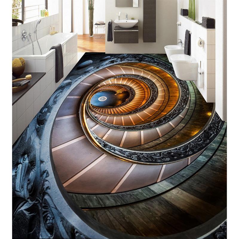 Großhandel Benutzerdefinierte Hd Treppe Foto Boden Tapete Moderne ...