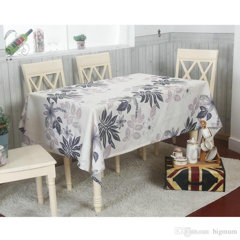 Compre Estilo Pastoral Moderno Floral CottonLinen Toalha De Mesa ...