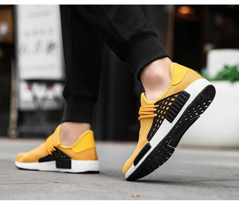 57c9e874dbcf9 2018 Cheap Human Race NMD Factory Boost Yellow Red Green Black Orange NMD  Men Pharrell Williams X Human Race NMD Running Shoes UK 2019 From Danny26