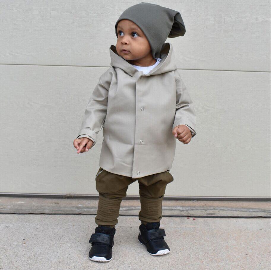 fef0f22de Kids Baby Boy Toddler Wind Outwear Coat Autumn Winter Jacket Clothes ...