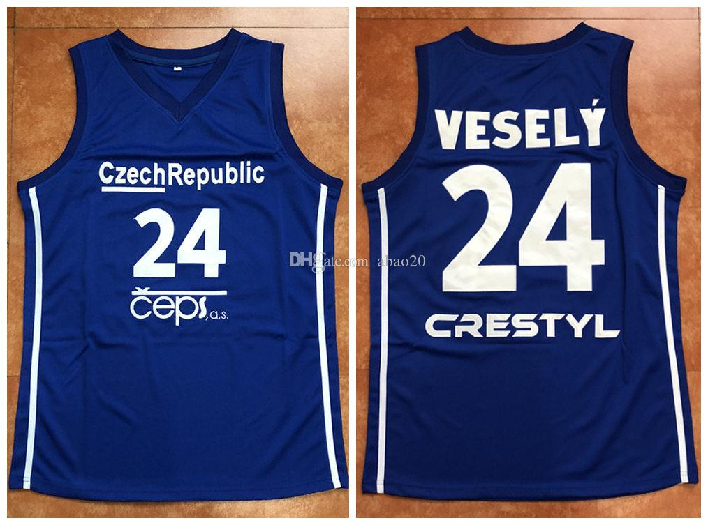 2019  24 JAN VESELY CZECH REPUBLIC 2014 WORLD CHAMPIONSHIP Retro Basketball  Jersey Mens Embroidery Stitched Custom Any Number And Name Jerseys From  Abao20 f383ed415