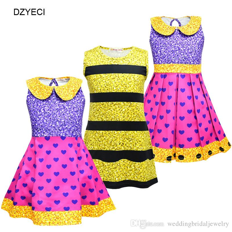 9a5c9f47f8d3 2019 Halloween Lol Costume For Baby Girl Dresses Christmas Cosplay ...