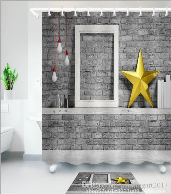 2019 Wall Frame 3d Pattern Print Custom Waterproof Bathroom Modern
