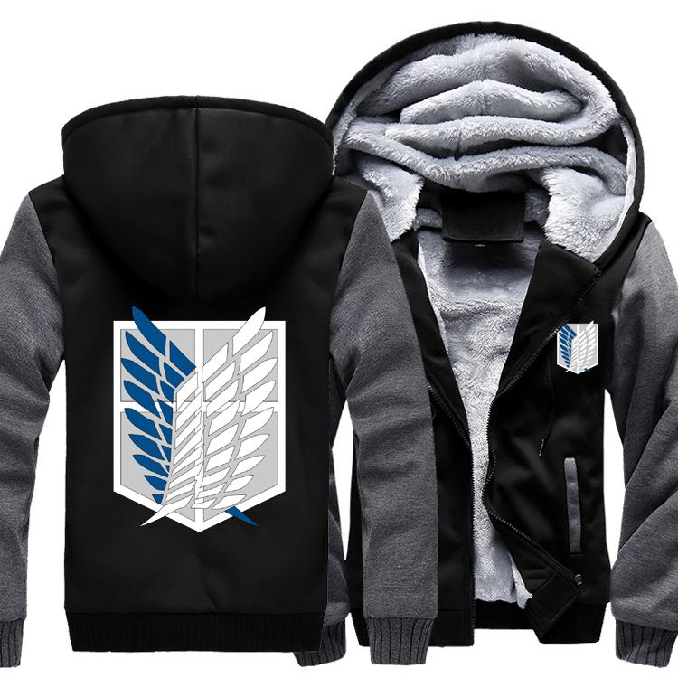 3c0d103d163f Attack on Titan Tokyo Ghoul Hoodie Men's and women's clothes Thicken Autumn  Winter coat cos clothing