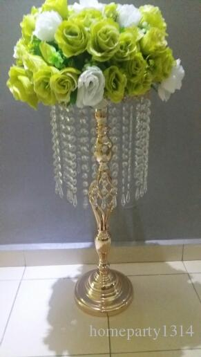 tall 70cm Wedding flower Decoration iron vase Crystal Cake Stand hotel table centerpieces flower vase display wedding sign area road lead