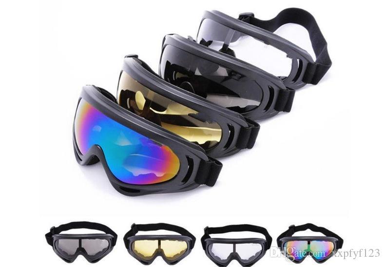 3091bbe4c945f Compre X400 Óculos De Sol Airsoft Goggles UV400 Proteção Contra Poeira Do  Vento Tático Paintball Colorido 5 Cores Óculos De Esportes Ao Ar Livre  Snowboard ...