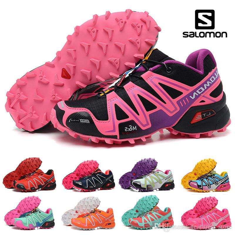 bas prix 7df64 c5401 Newest Salomon Speed cross 3 CS III Running shoes Black Silver red Pink  blue Women Outdoor SpeedCross 3s Hiking Womens sports sneakers 36-41