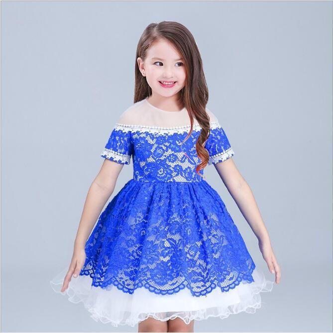 Großhandel Neue Mode Spitze Mädchen Prinzessin Kleider Europäischen Modell  Kinder Tutu Kleid Für Party Tragen Blau 3 9 Jahre Alt Von Zzj8,  16.59 Auf  De. c0eb5953bd
