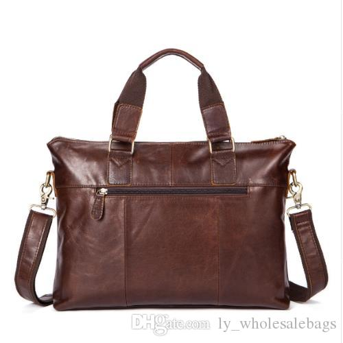 8082c67369fd 2018 Retro Male First Layer Cow Leather Casual Bags Men s Handbag ...