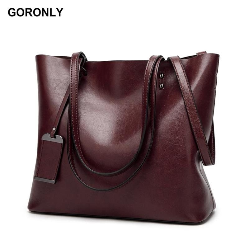 52ced6119c GORONLY Brand New Leather Tote Bag Women Handbags Designer Large Capacity  Shoulder Bags Fashion Lady Purses Crossbody Bag Bolsas Designer Handbags On  Sale ...