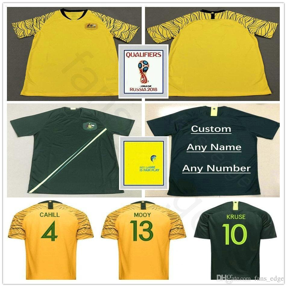 2019 2018 World Cup Australia Soccer Jersey CAHILL LUONGO LECKIE JEDINAK  ROGIC JEDINAK KRUSE TROISI Custom Home Away Green Yellow Football Shirt  From ... c16f7edb4