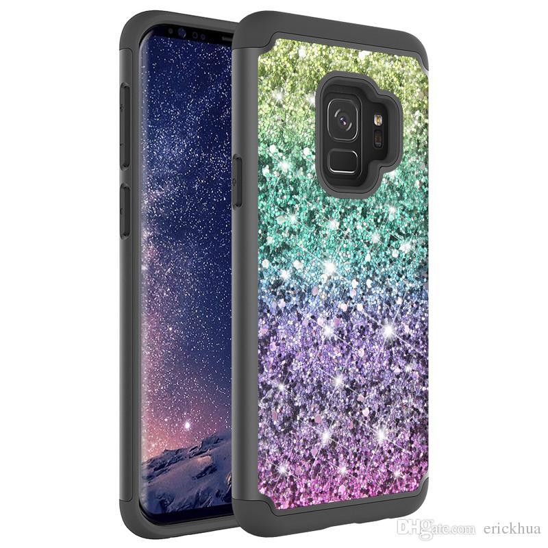 e31e88463b1 Fundas Online Para Samsung Galaxy J7 2018 J3 2018 LG K10 2018 STYLO 4  Aristo 2 Contraportada Bling Glitter TPU + Funda De Piel Oppbag Fundas De  Móvil Por ...