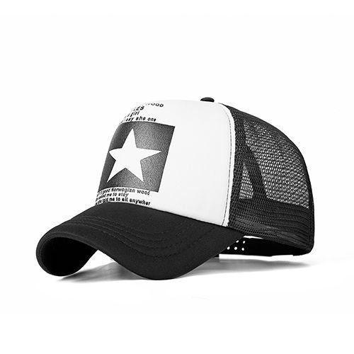 d9492953 2018 Fashion Summer Star Baseball Cap Women Men Mesh Breathable ...