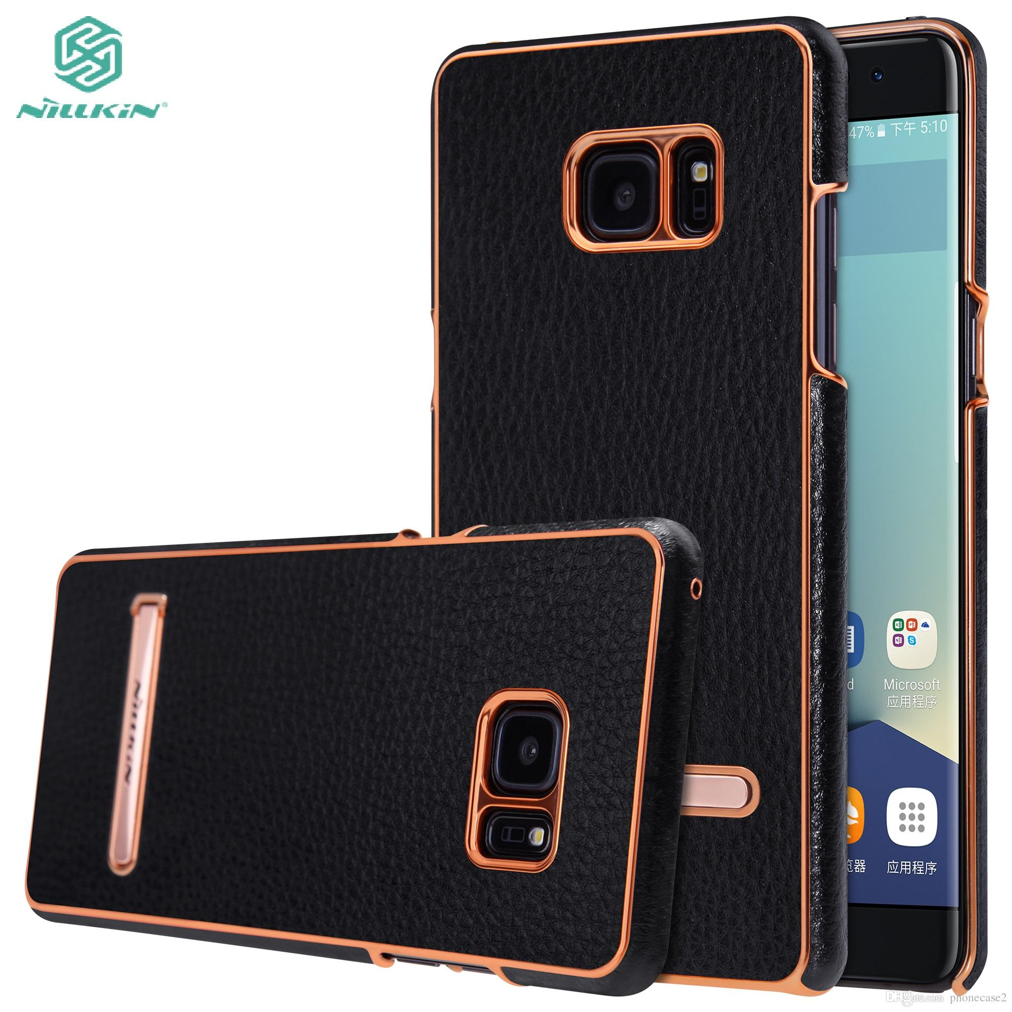 best loved d69e7 10959 for Samsung Galaxy Note FE Fan Edition Case Nillkin M-Jarl Luxury Leather  Phone Cover Case for Samsung Note 7 Kickstand Funda