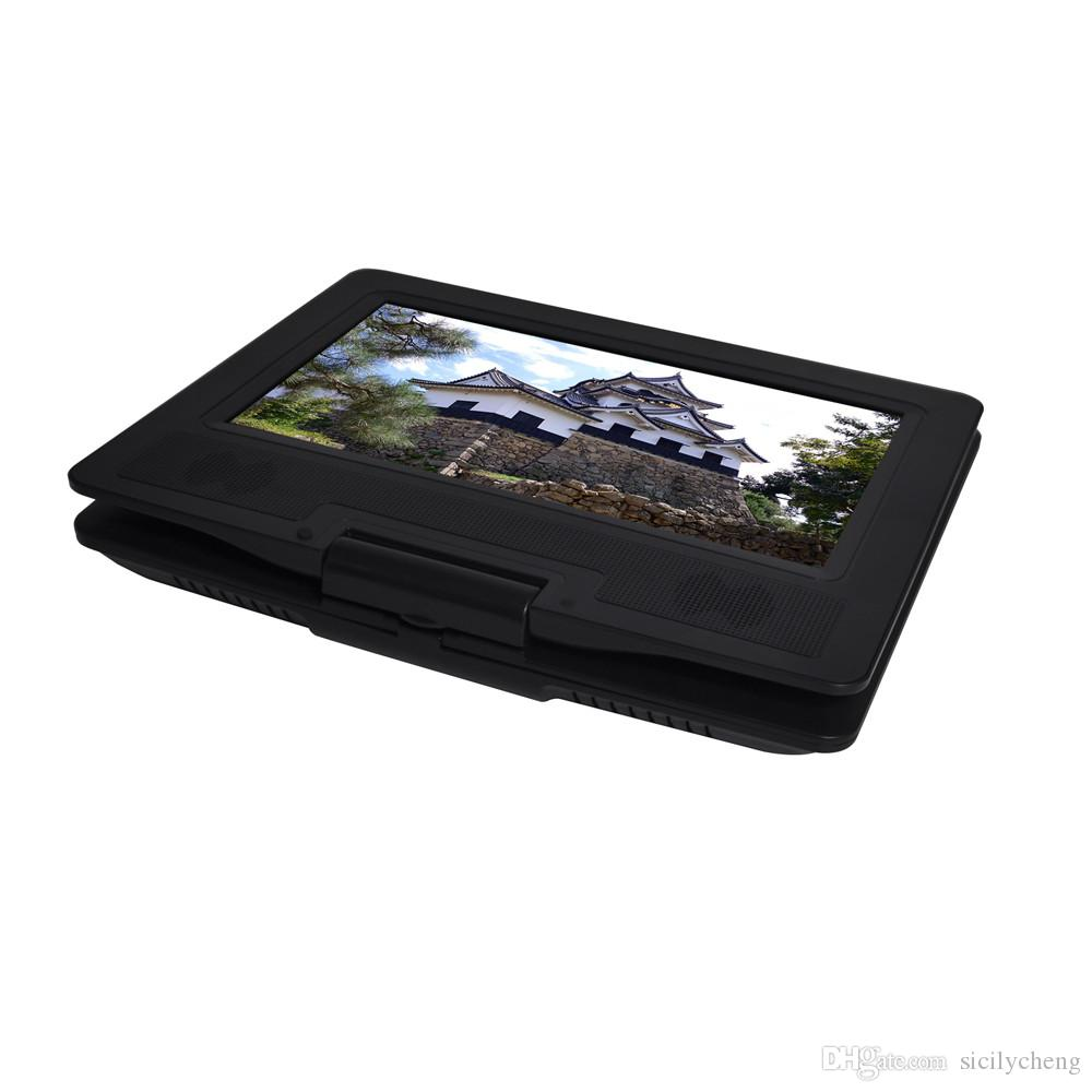 Wholesale Best Quality 12 inch Portable DVD Player with 270° LCD screen,3 Hours Rechargeable Battery,Car DVD Player,With Game Function