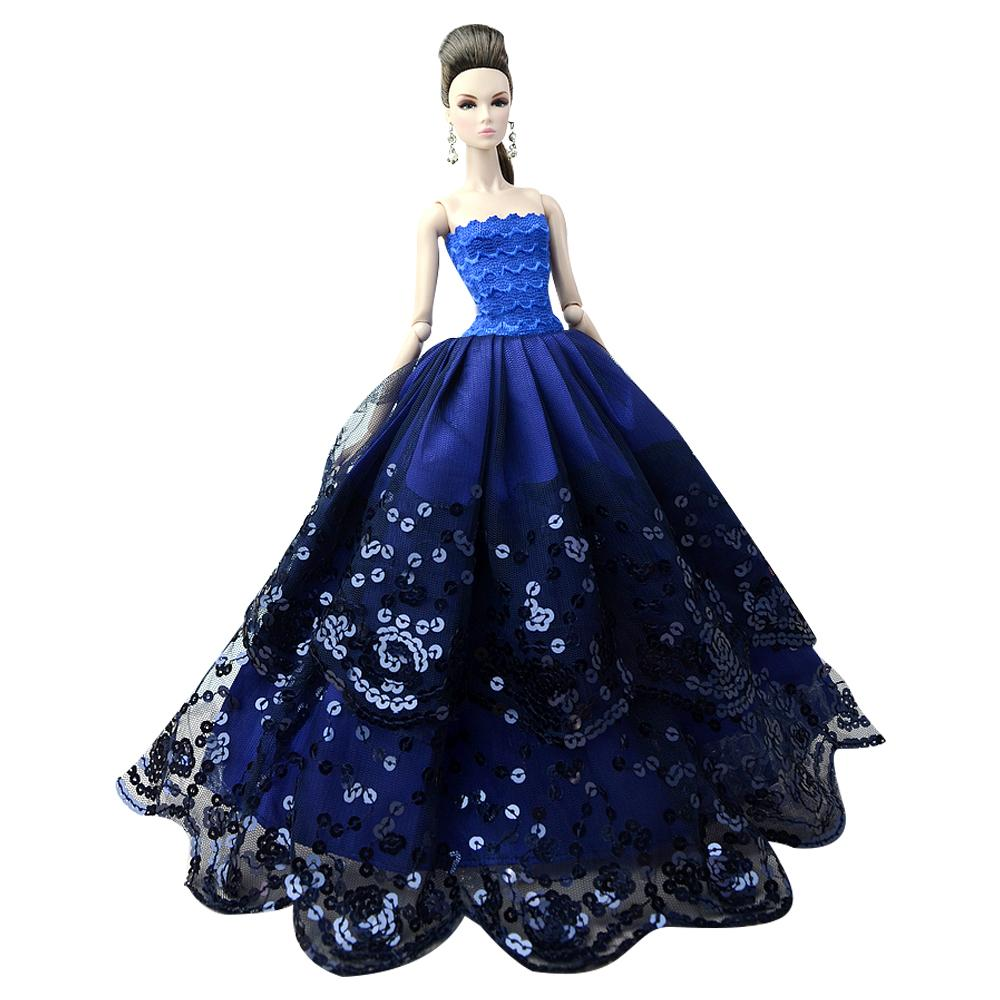 NK One Pcs 2018 Princess Wedding Dress Noble Party Gown For Doll Fashion Design Outfit Best Gift For Girl' Doll 085E