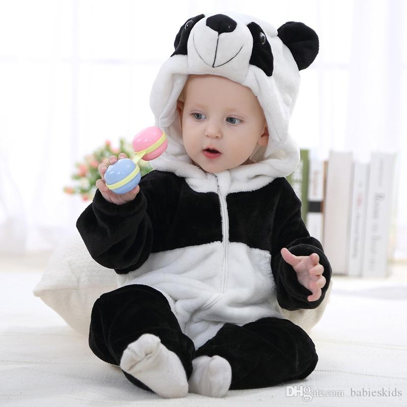 79fe087ff 2019 Cute Baby Romper Boys Girls Jumpsuit New Born Cosplay Spring Autumn Clothing  Hooded Toddler Baby Clothes Animal Romper Baby Costumes From Babieskids, ...