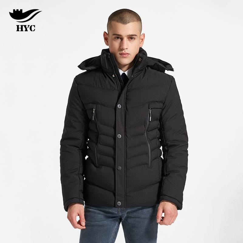f10dd114aba 2019 HAI YU CHENG Coat Men Winter Short Design College Jacket Hood  Detachable Thick Parka Quilted Coat Man Warm Winter Jacket Male From Houmian