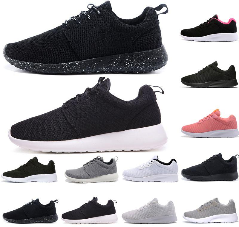 6b06f27c3b Compre Nike Tanjun New Tanjun3.0 London 1.0 Homens Mulheres Sapatos Triplos  Branco Preto Rosa Símbolo Azul Cinza Formadores Mens Designer Sports Shoes  ...