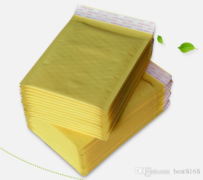 5.1 * 6.6-дюймовый 130*170мм + 40мм Крафт пузырь почтовые конверты обернуть сумки мягкий конверт Почта упаковка сумка для Iphone Х 8 7 S9 случае мобильный телефон