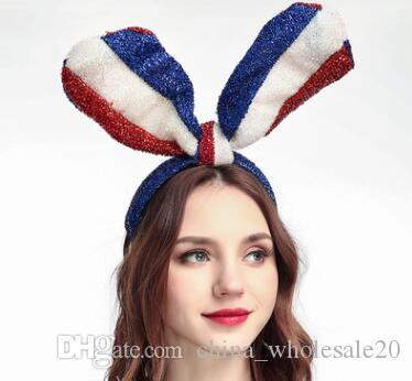 cb72a71fd77 New Festival Rabbit Ears Shaped Toy Velvet Sequins Headdress Party Cosplay  Toy Hair Hoop Flag Rabbit Ears Bright Silk Party Hat Headband Party Hat  Icon From ...