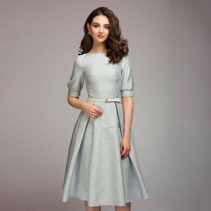 Großhandel 2018 Herbst Mode Frauen Bust Kleid Solide Plissee Oansatz ... 3e839e90fd