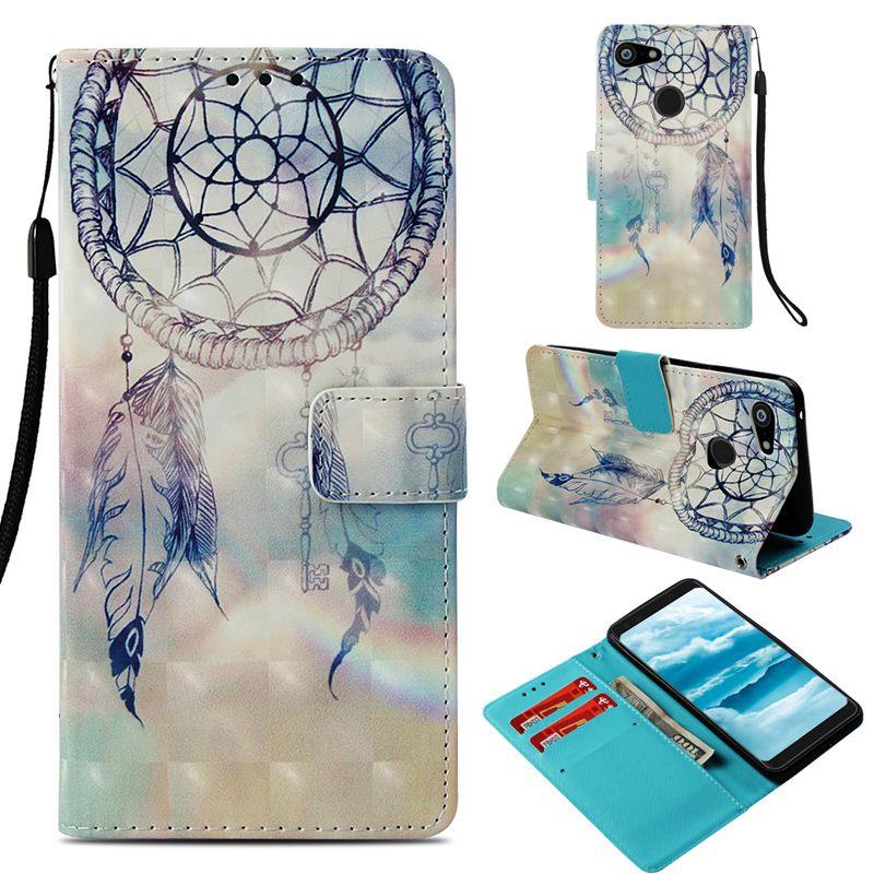 3D Glitter Painted Wallet Flip Leather Case For SONY XZ3 XZ2 Premium Compact XZ1 XZ XA1 XA2 Plus Ultra L2 Google Pixel 3 XL Alcatel 7 Folio