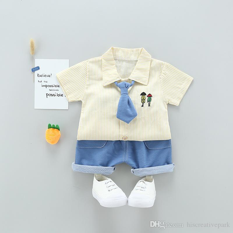 6e6768e23e8d 2018 Summer Tie Clothing Sets Boy Cotton Casual Children s Wear Baby ...