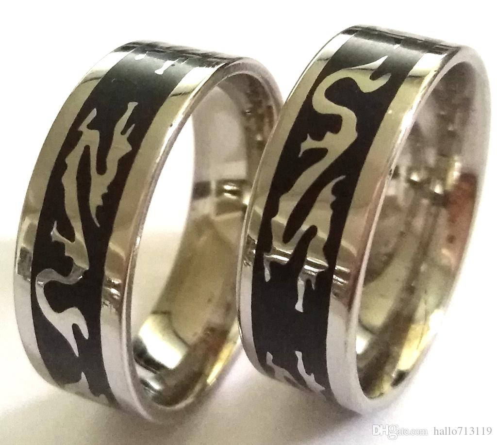 Unique Chinese Dragon Stainelss Steel Rings Men's Punk Fashion Cool Quality Fortable Wedding Wholesale Jewelry Men Bands Band: Chinese Man Wedding Band At Websimilar.org