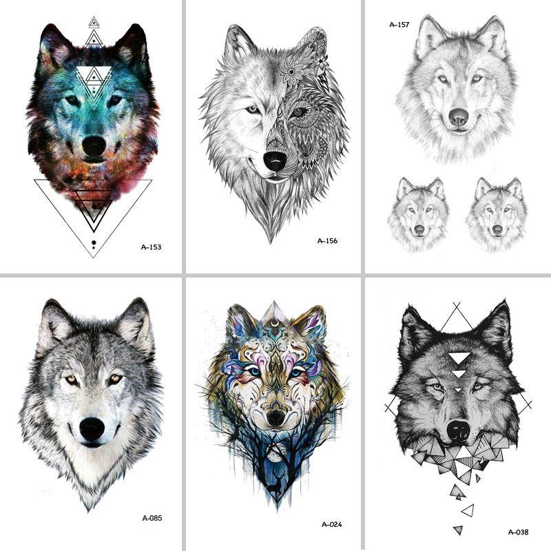 Acheter Wyuen Hot Design Wolf Tatouage Temporaire Pour Femmes Body