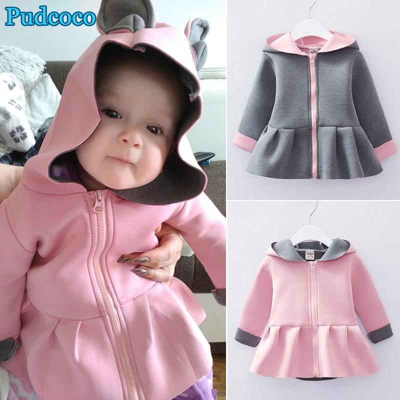 ddb8aeb4434d Pudcoco 2019 Brand New Kids Baby Girls Rabbit Ear Bunny Zip Up ...