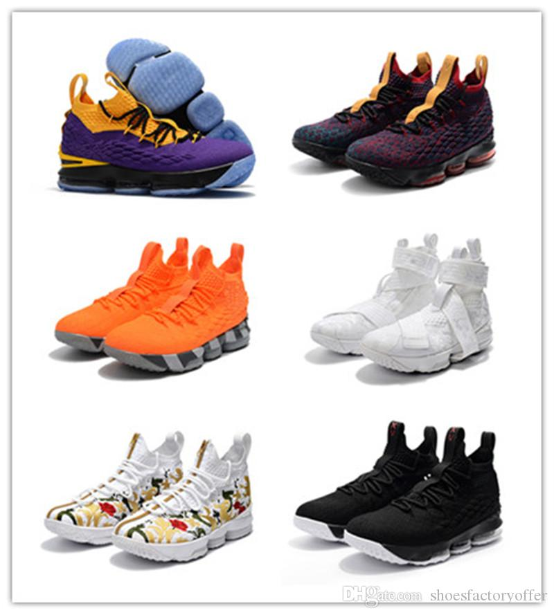 aa56dffdda08e ... 2019 2018 Hot LB 15 Lakers Shoes For Sale Top Quality Jams 15