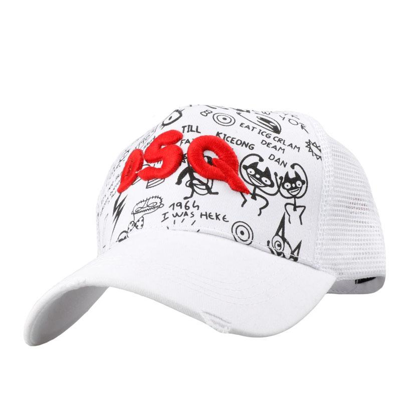 c40f815cd7e 2019 D2 Mesh Curved Caps Popular Letters Cartoon Snapback Hats Adjustable  Sport Baseball Cap For Adult Kid Embroidery Luxury Caps Casual Dad Hat From  ...