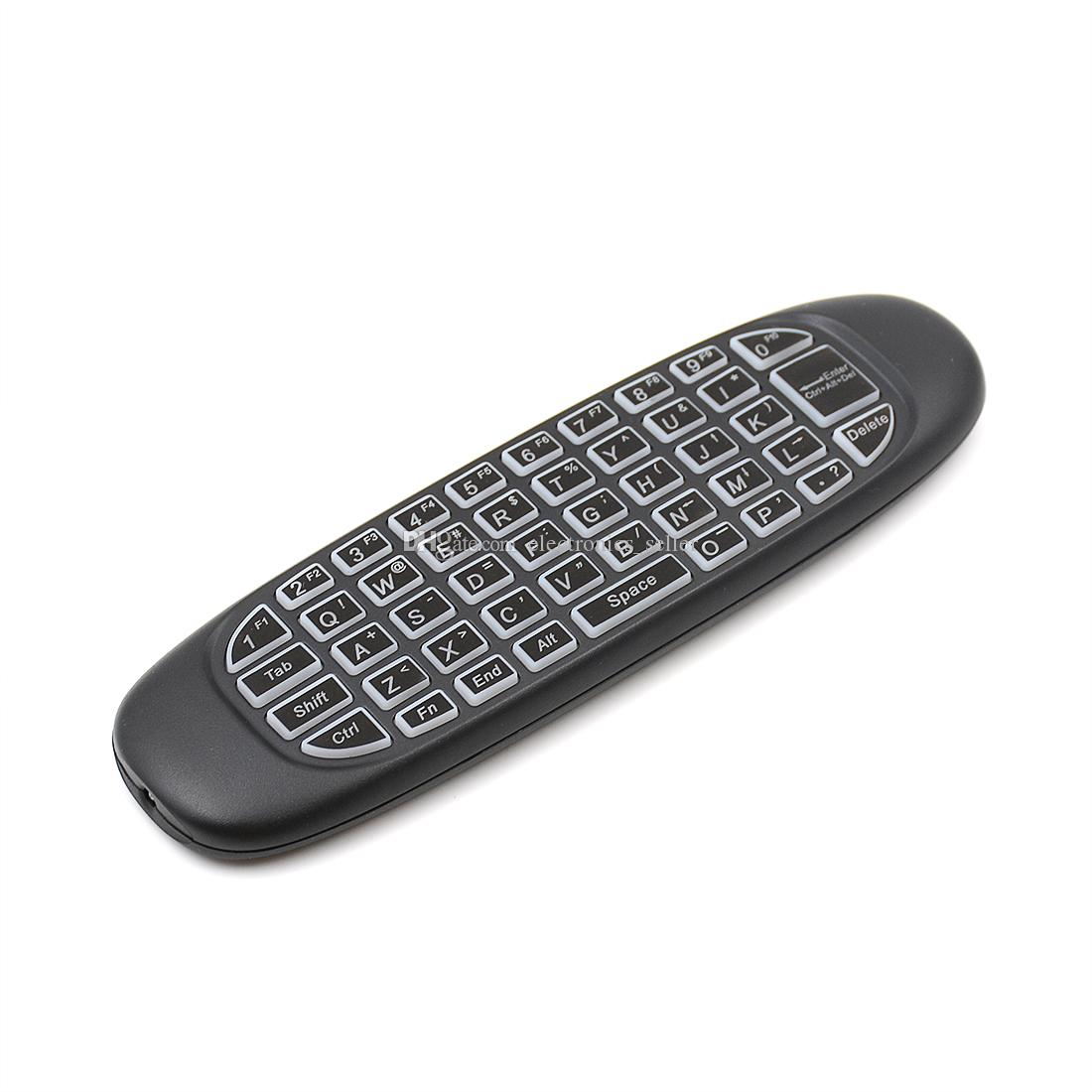 C120 G64 Backlight Fly Air Mouse 2.4GHz Wireless Mini Keyboard 6-Axis Gyroscope Game Handgrip Remote Control for Android TV BOX Backlit